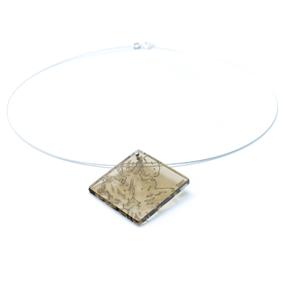 Janet wass contemporary silver jewellery maker academy of makers pendant brown 3mm aloadofball Choice Image